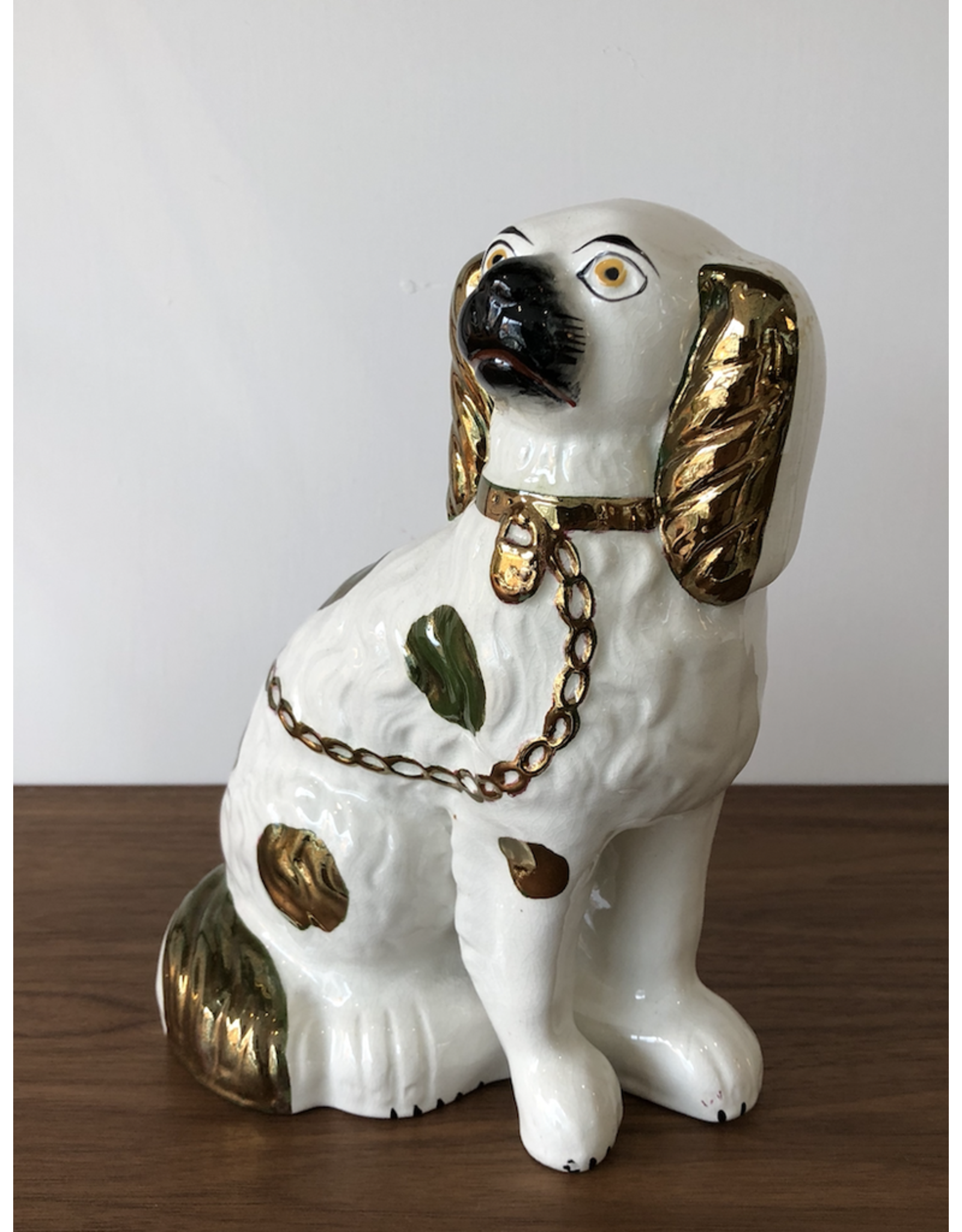 MANKS ANTIQUES STAFFORDSHIRE EARTHENWARE KING CHARLES SPANIEL