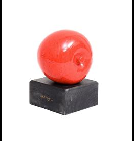MANKS ANTIQUES 紅蘋果釉面北歐古董陶瓷雕塑 (帶簽名) / APPLE SCULPTURE