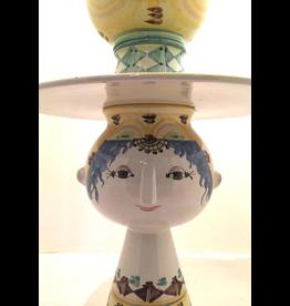 MANKS ANTIQUES 5件手绘陶瓷花瓶姑娘连宽边帽