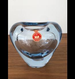 MANKS ANTIQUES 1950年代淡蓝色玻璃大心花瓶
