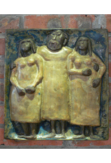 MANKS ANTIQUES WALL PLAQUE 快乐男人与两个漂亮女士墙匾