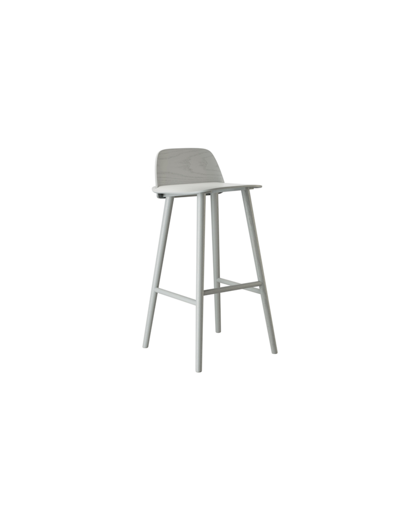 MUUTO NERD BAR STOOL LACQUERED ASH IN GREY