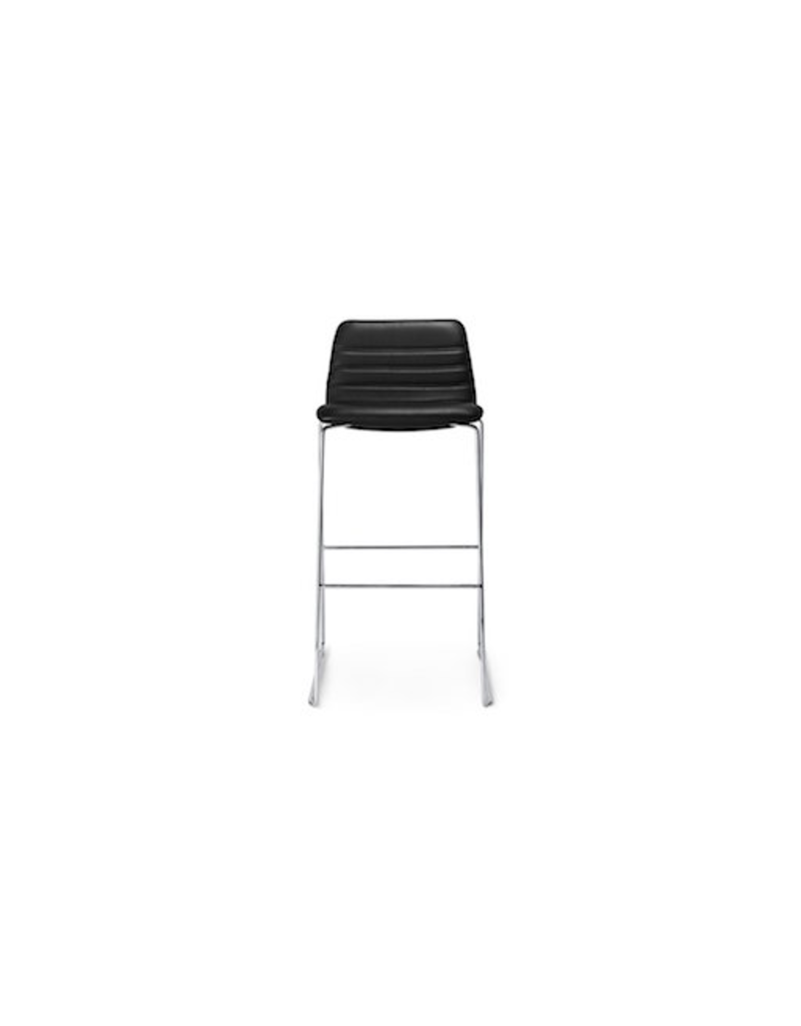SPINAL 44 BARSTOOL IN STANDARD BLACK LEATHER