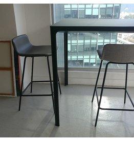 FREDERICIA 4317 PATO 灰色皮革櫃台凳