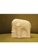 MANKS ANTIQUES CERAMIC SCULPTURE OF WHITE ELEPHANT