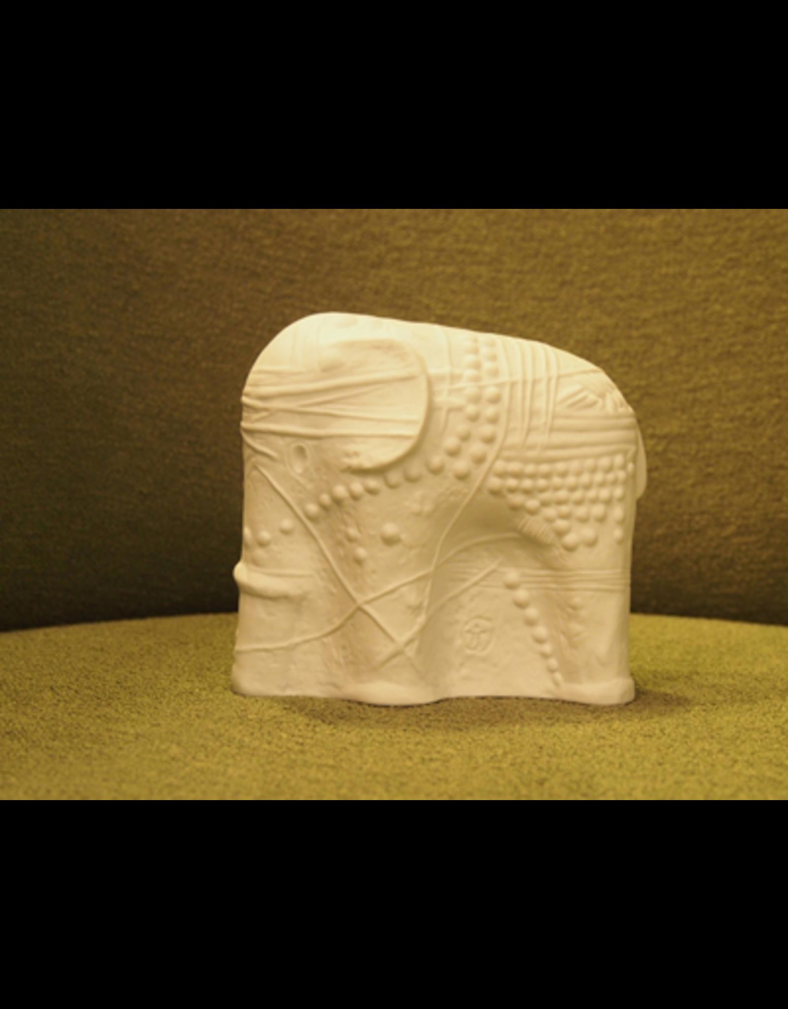 CERAMIC SCULPTURE OF WHITE ELEPHANT