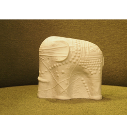 CERAMIC SCULPTURE OF WHITE ELEPHANT