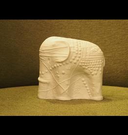 MANKS ANTIQUES CERAMIC SCULPTURE 白象陶瓷雕塑