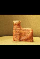 CERAMIC SCULPTURE OF EARTH TONE CAT FROM TERRA SERIES
