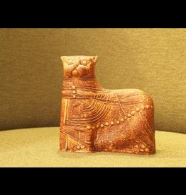 MANKS ANTIQUES CERAMIC SCULPTURE 泥土猫陶瓷雕塑