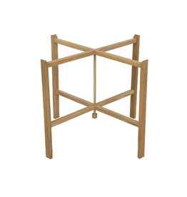 HJERTÉN & HJERTÉN 1035-65/50 FOLDABLE TRAY STAND IN OILED SOLID OAK