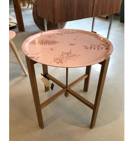 HJERTÉN & HJERTÉN 46CM ROUND TRAY WITH FOLDABLE TRAY STAND