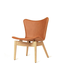 MATER SHELL LOUNGE CHAIR N SORENSEN DUNES RUST LEATHER