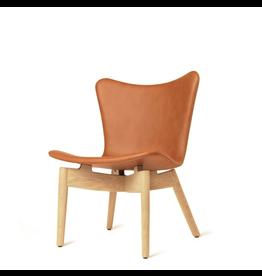 MATER SHELL 锈咖啡色皮革休闲椅