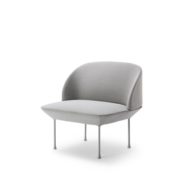 (DISPLAY) OSLO LOUNGE CHAIR UPHOLSTERED IN LIGHT GREY FABRIC