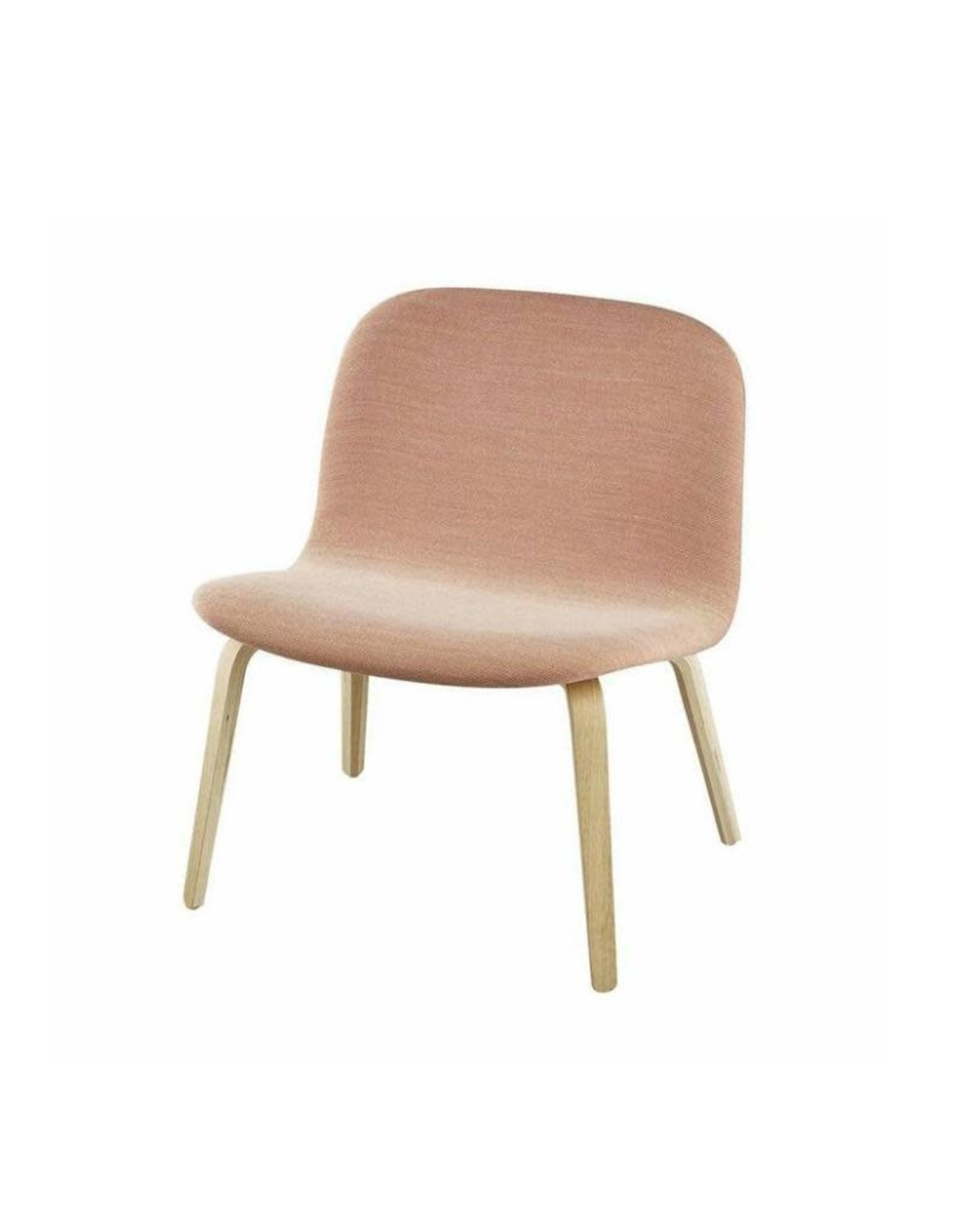 VISU LOUNGE CHAIR SHELL UPHOLSTERED IN PINK