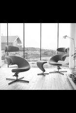PEEL I 布质休闲椅子连颈枕和脚凳