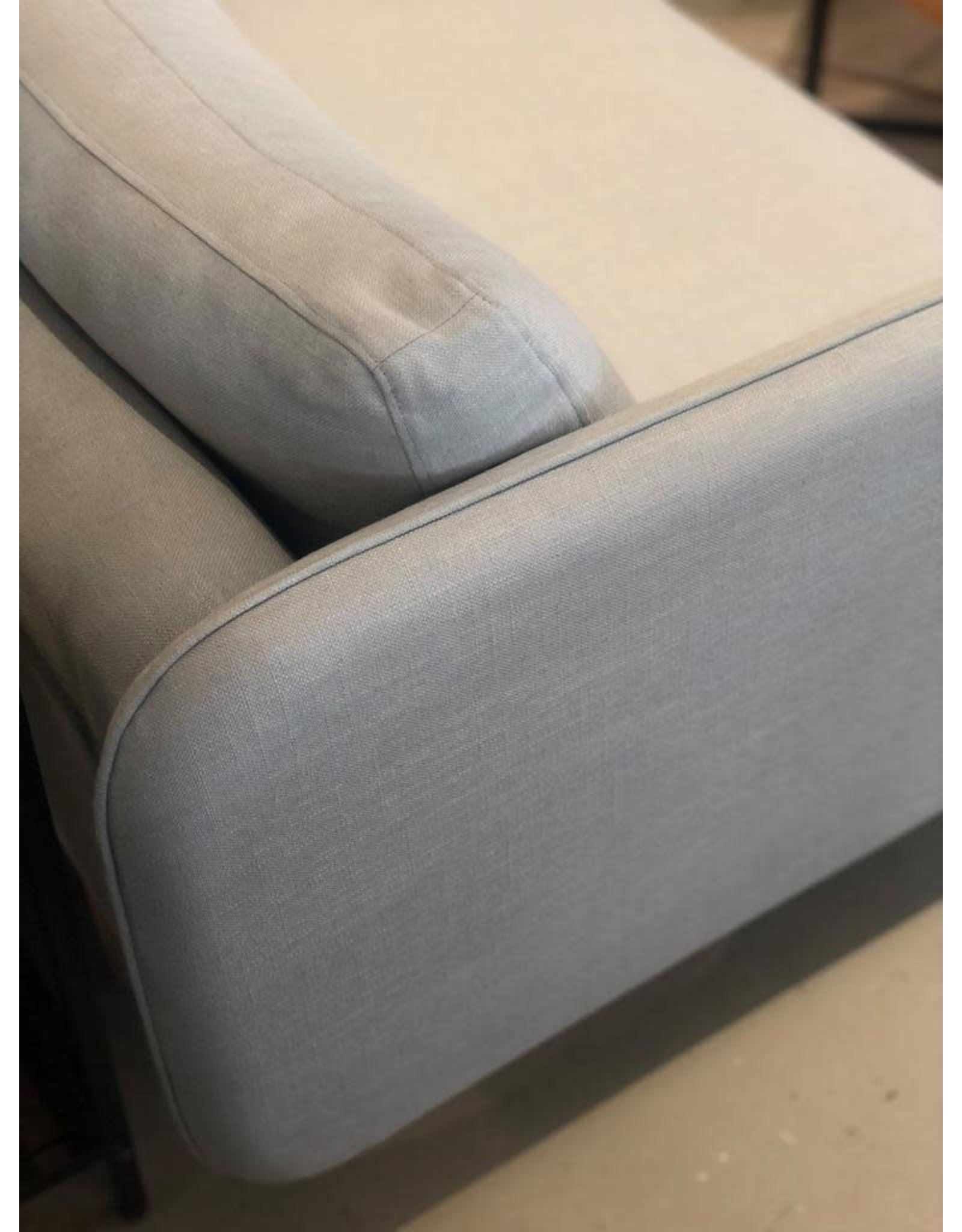 WON DESIGN 3 SEATER HOLD SOFA IN ICE BLUE DIEGO#73