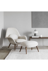 FREDERICIA 1770 SWOON LOUNGE CHAIR WITH OTTOMAN