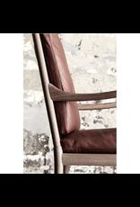 OW149 實心橡木休閒殖民椅