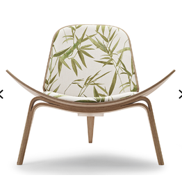 (DISPLAY) CH07 SHELL CHAIR IN JIM THOMPSON MOSS FABRIC