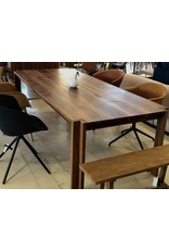 DK3 JEPPE UTZON TABLE #1 IN WILD WALNUT SANDWICH