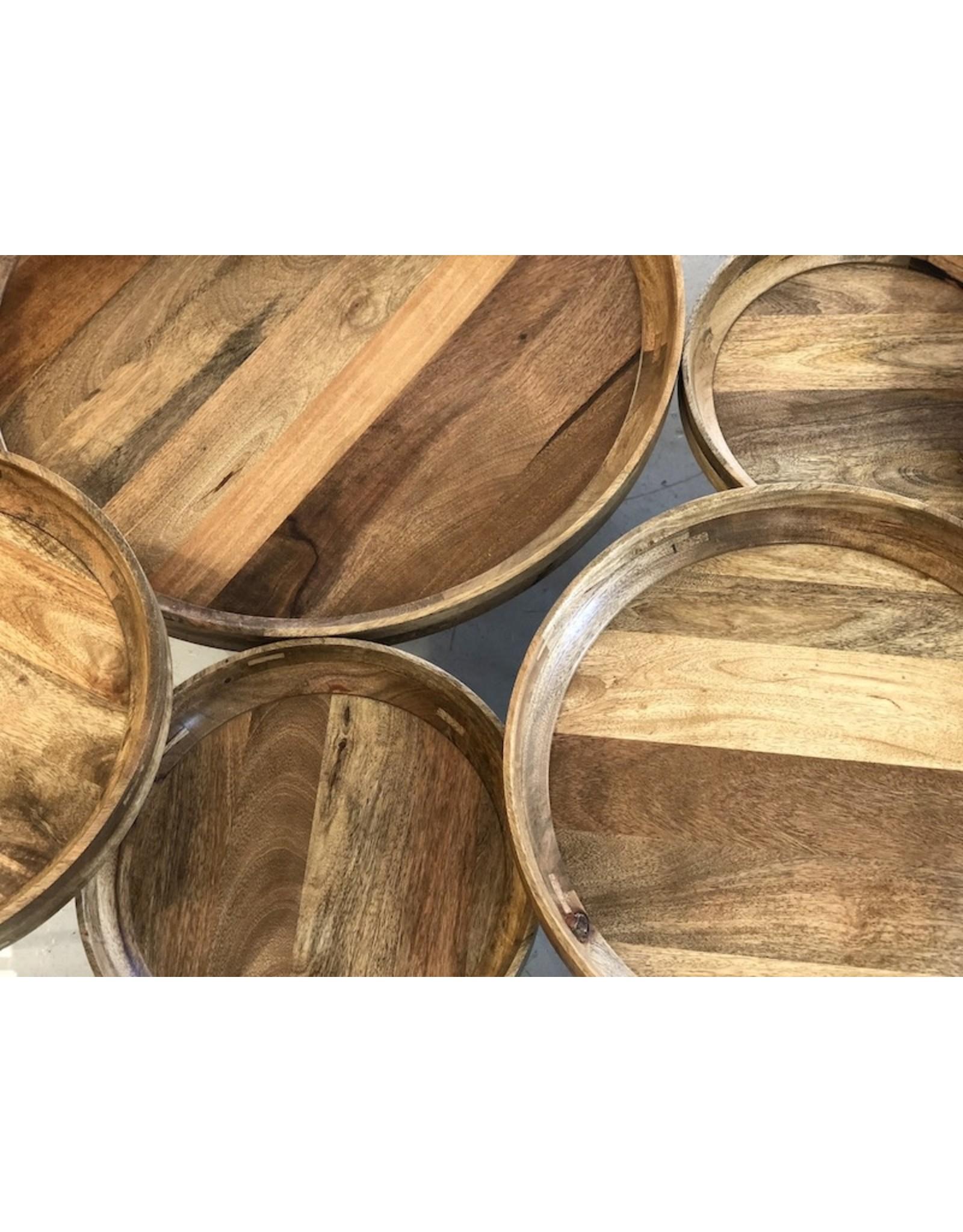 MANGO BOWL TABLE IN NATURAL MANGO WOOD FINISH