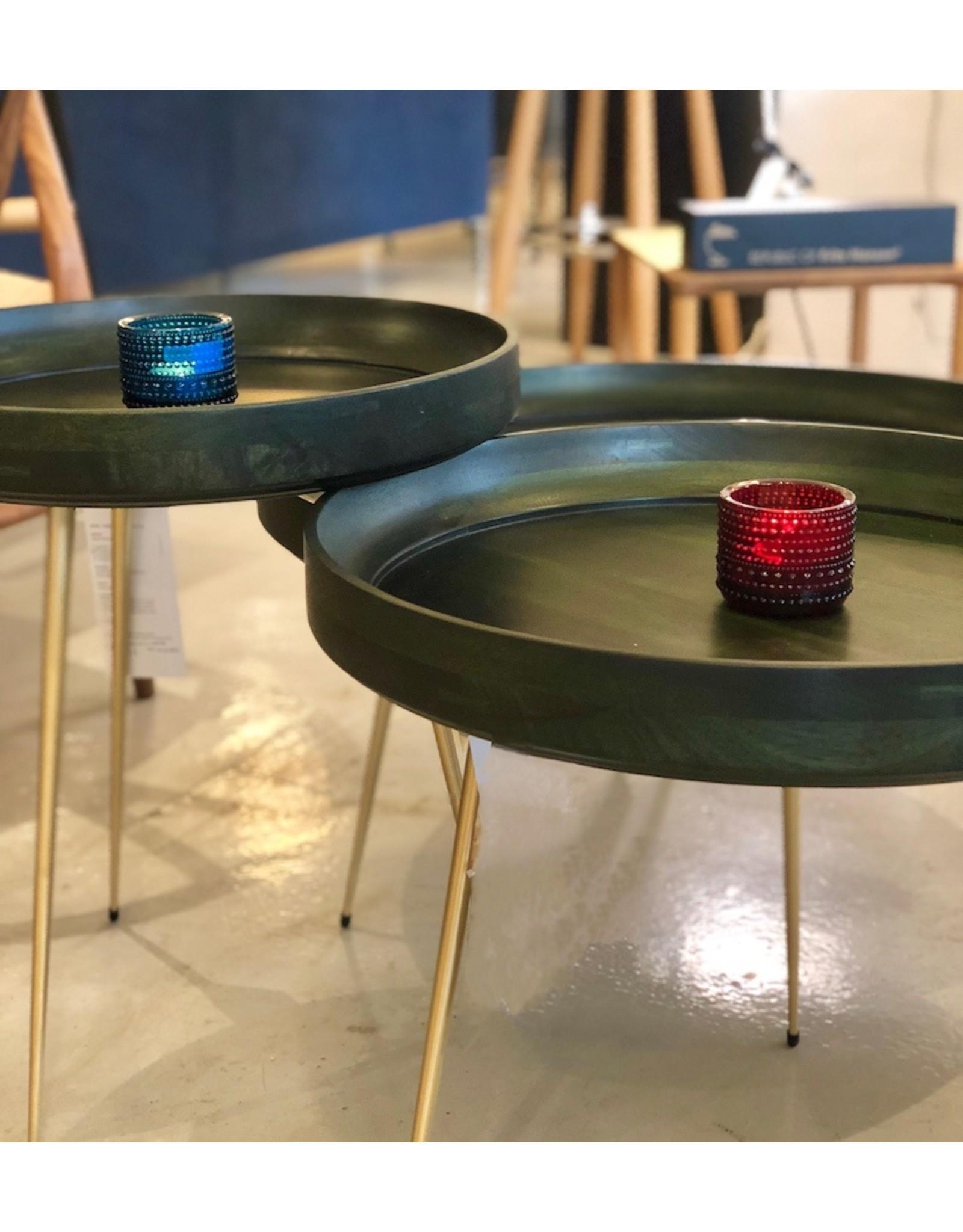 MANGO BOWL 染紫菜绿色芒果木边桌