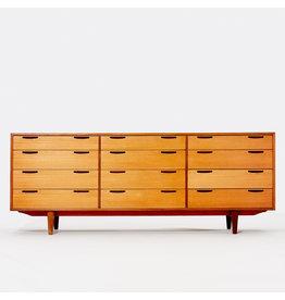 MANKS ANTIQUES 1960's  IB KOFOD LARSEN 12 抽屜柚木餐邊櫃
