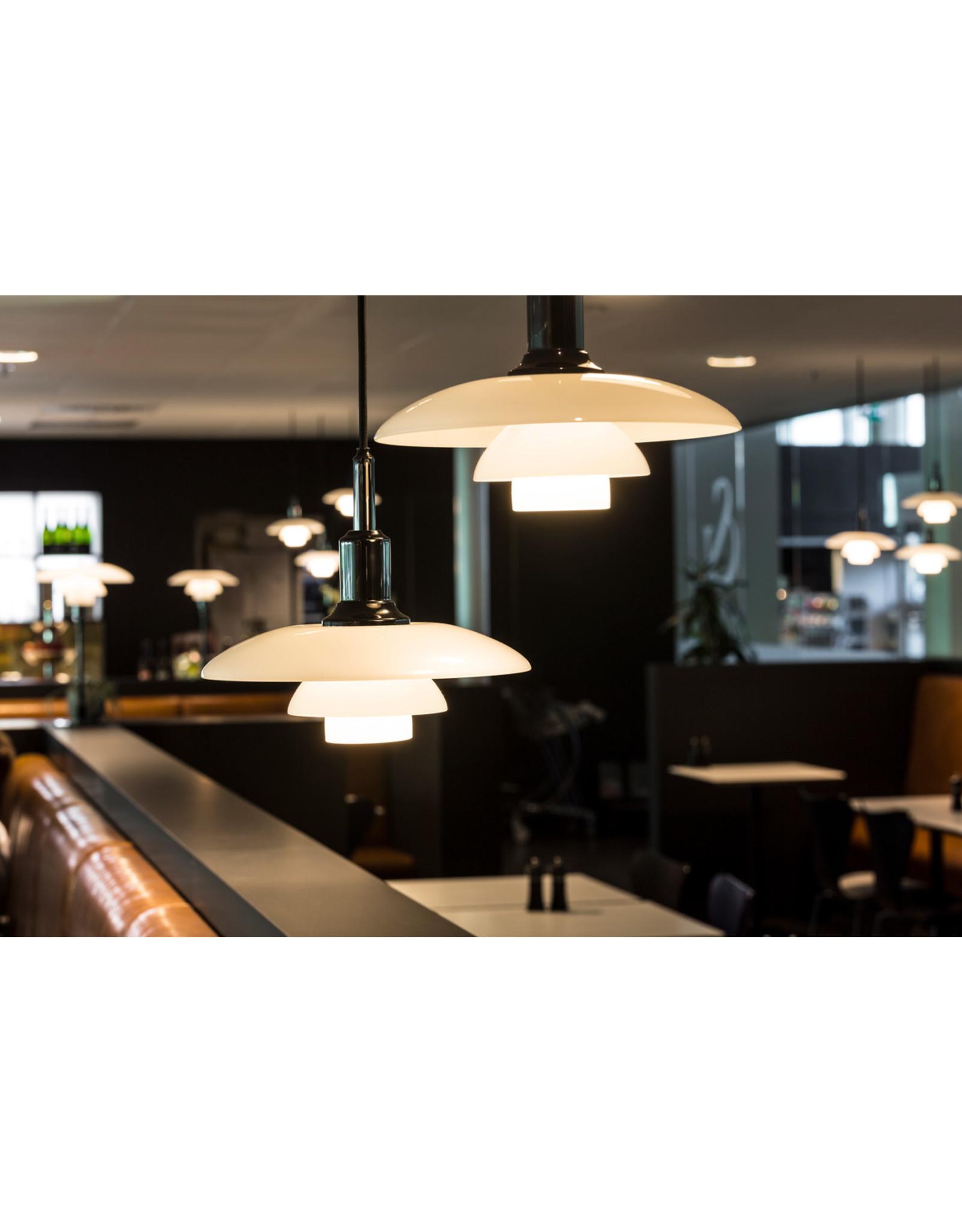 PH 3/2 PENDANT LAMP IN WHITE OPAL GLASS