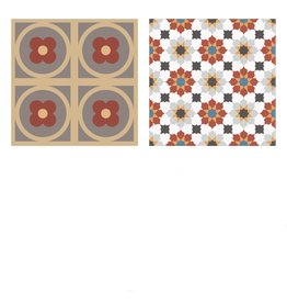 NANCHOW HAND MADE CEMENT TILE, 200 X 200 X 16MM (RED)