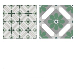 NANCHOW 手工水泥花磚 200 X 200 X 16MM (綠色)