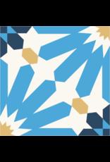 NANCHOW HAND MADE CEMENT TILE, 200 X 200 X 16MM (BLUE)