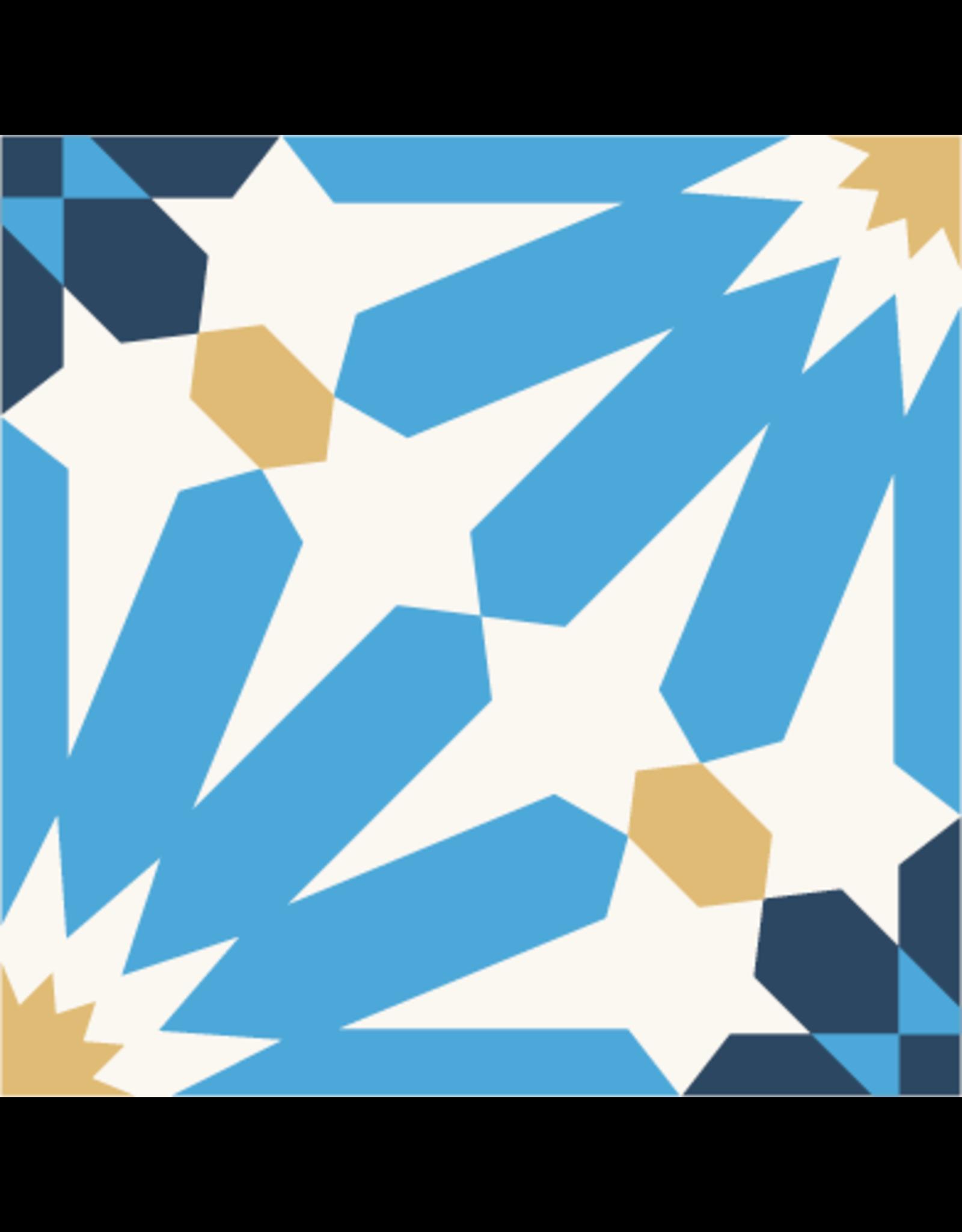 NANCHOW 手工水泥花磚 200 X 200 X 16MM (藍色)
