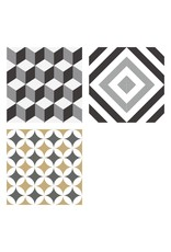 NANCHOW Hand made cement tile, 200 x 200 x 16mm (BLACK)
