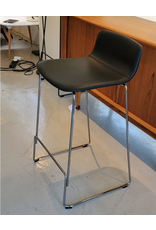 4312 PATO COUNTER STOOL IN BLACK LEATHER