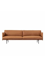 OUTLINE 3-SEATER SOFA IN COGNAC REFINE LEATHER