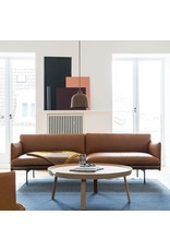 (DISPLAY) OUTLINE 3-SEATER SOFA IN COGNAC REFINE LEATHER