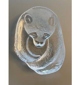 STUDIO GLASS BOWL OF PANDA BY MATS JONASSON