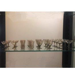 1930's 煙燻玻璃酒杯 (24 隻)