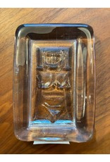1960's STUDIO CLEAR GLASS PAPERWEIGHT WITH MOTIF