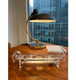 1960's STUDIO 帶RAM頭端的透明玻璃燭台