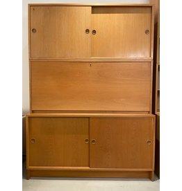 1960's ORESUND 橡木書櫃連檯 橙色