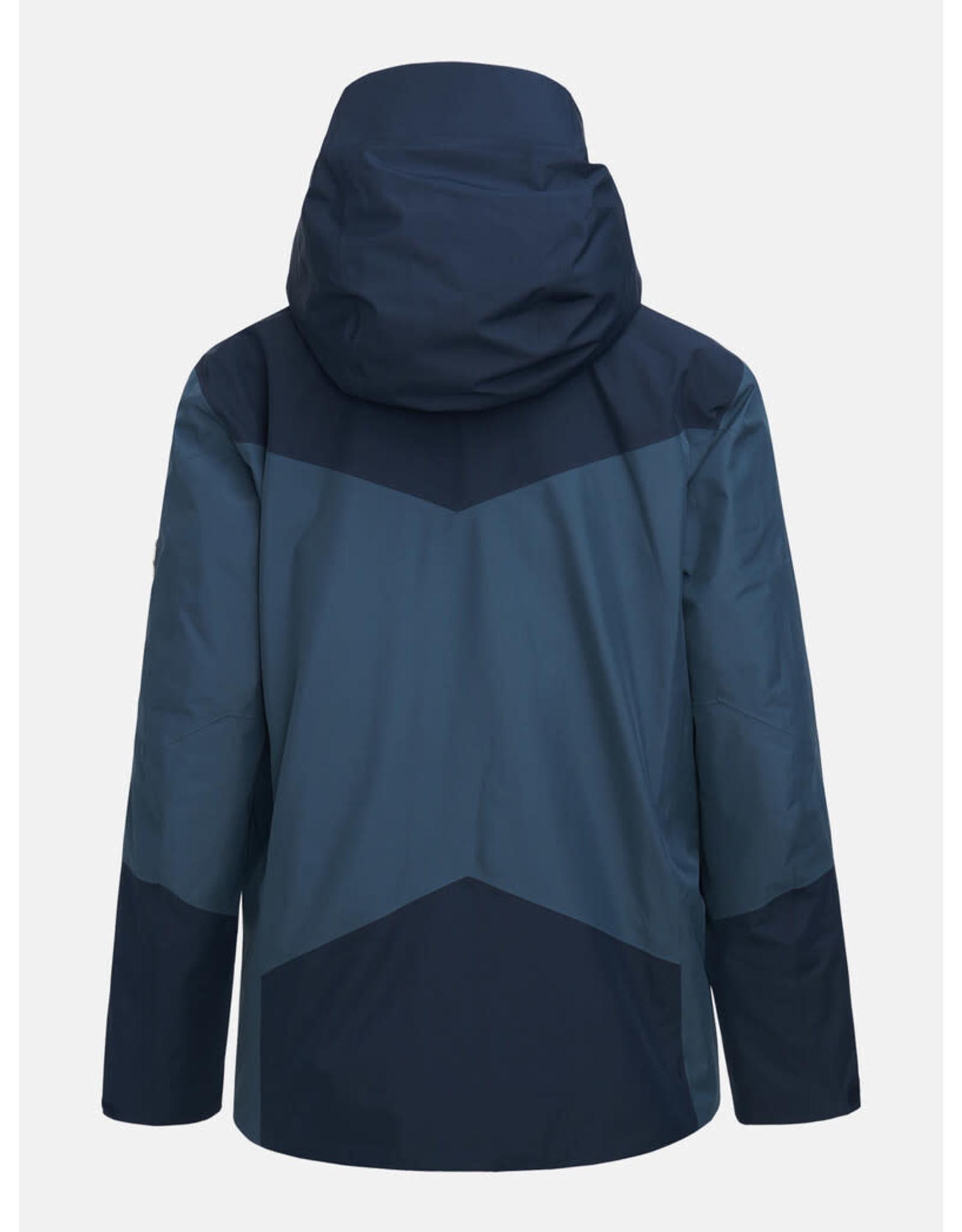 Peak Performance Maroon GTX Ski Jacket Men Size Medium
