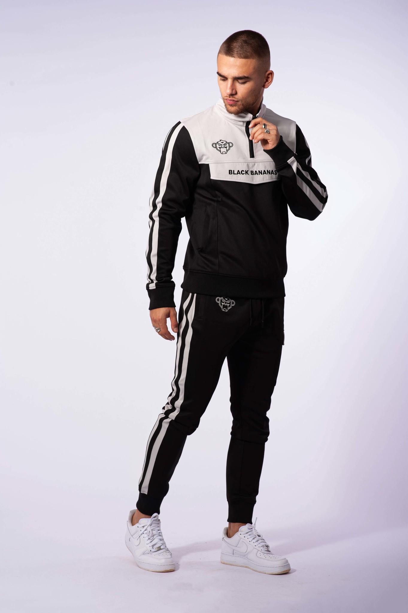Black Bananas Sprint Tracksuit Black/Grey Heren-2