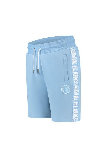 Malelions Sport Striker Short Light Blue/White