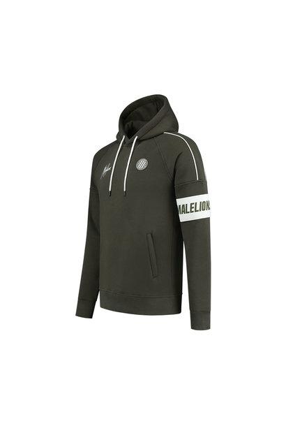 Malelions Sport Coach Hoodie - Army/White