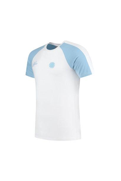 Malelions Sport Striker T-Shirt -Light Blue/White