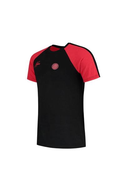Malelions Sport Striker T-Shirt - Black/Neon Red