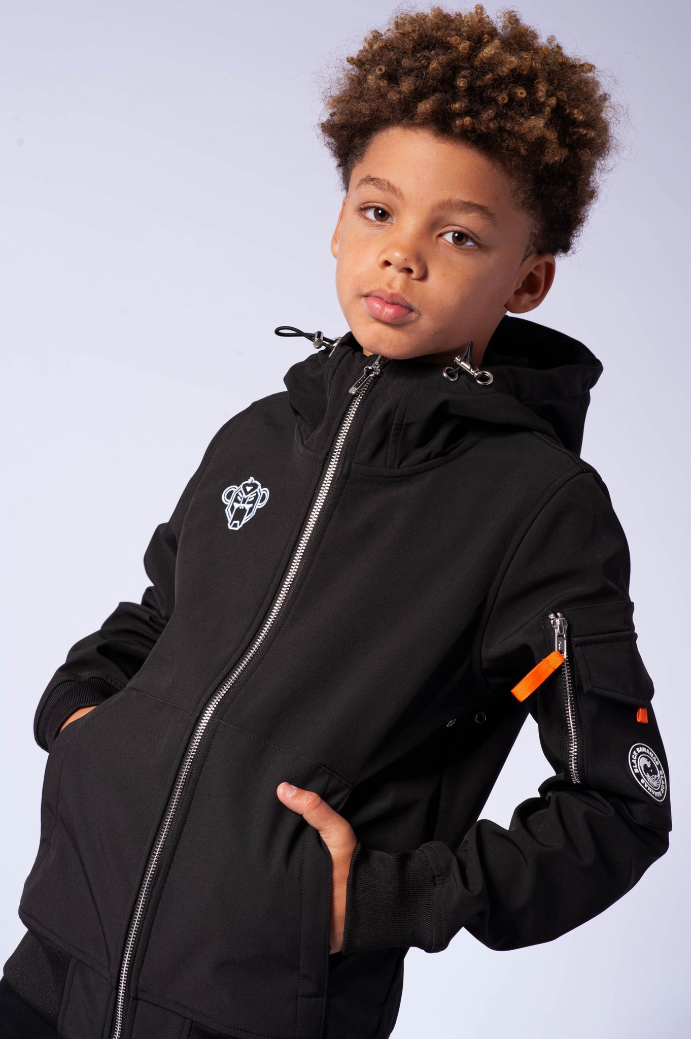 Jr. Softshell Jacket Zwart-2
